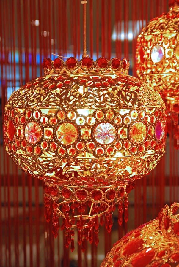 Decoração chinesa da lanterna do ano novo imagem de stock royalty free