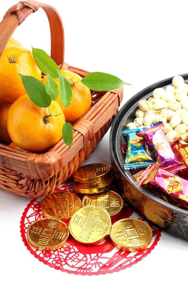 Download Decoração Chinesa Do Ano Novo Imagem de Stock - Imagem de dourado, frutas: 16868895