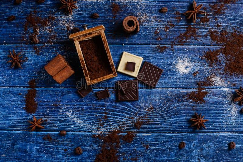 Decoração com ingredientes aromáticos fotos de stock