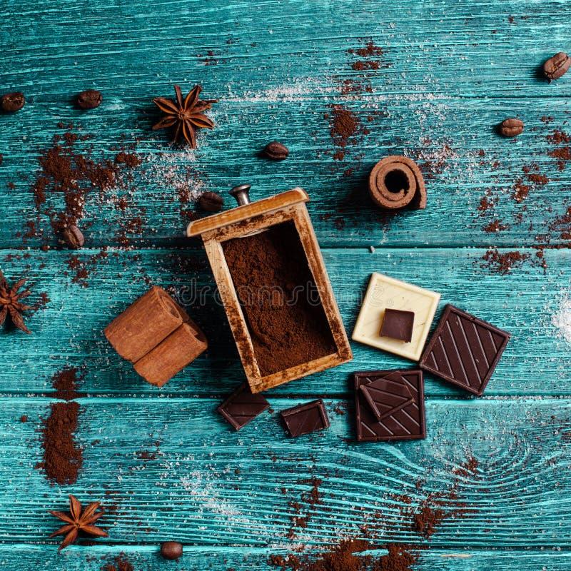 Decoração com ingredientes aromáticos fotografia de stock