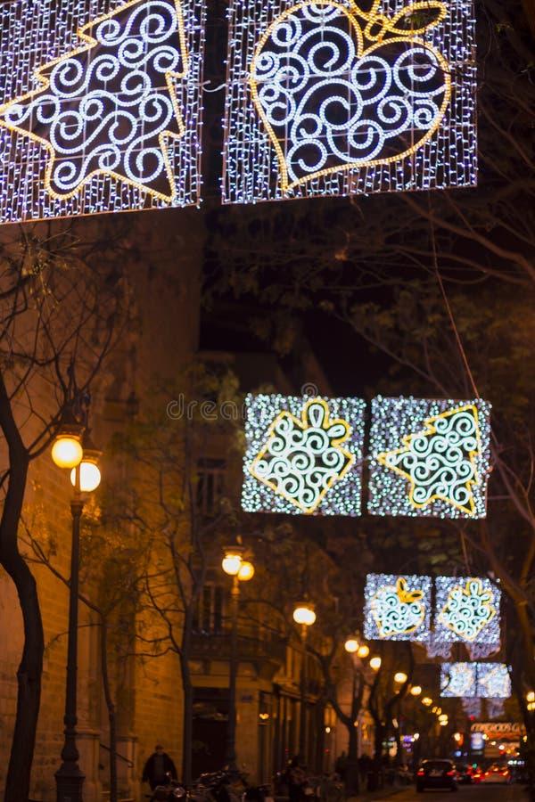 Decoração conduzida das luzes da rua fotos de stock royalty free