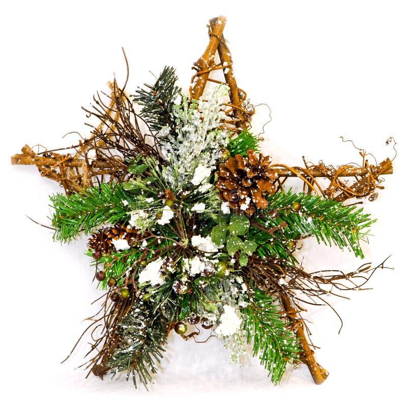 Decoração da árvore da estrela imagem de stock royalty free