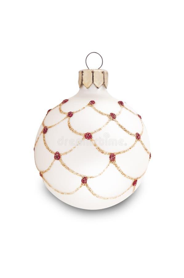 Decoração da árvore de Natal branco imagens de stock