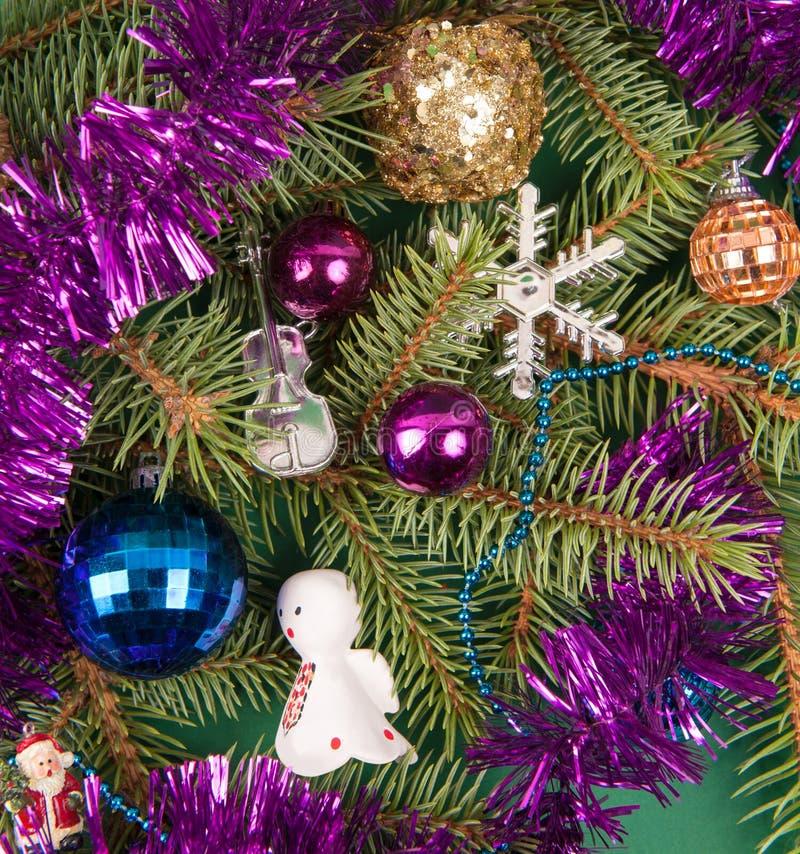 Decoração da árvore de Natal com anjo fotos de stock royalty free