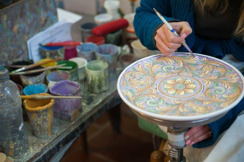 Decoração da cerâmica imagem de stock