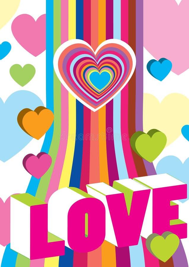 Download Decoração Da Cor Do Valentim Ilustração Stock - Ilustração de fundo, bonito: 12809359