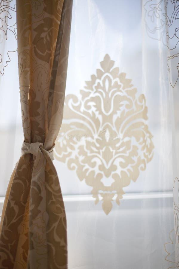 Decoração da cortina fotografia de stock royalty free