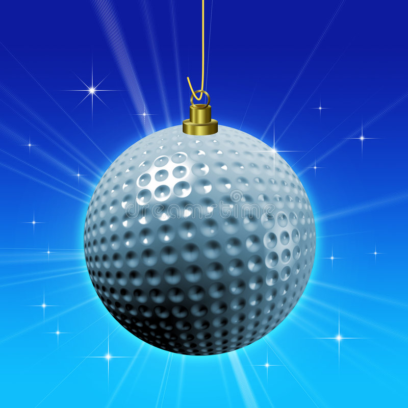 Decoração da esfera de golfe ilustração royalty free