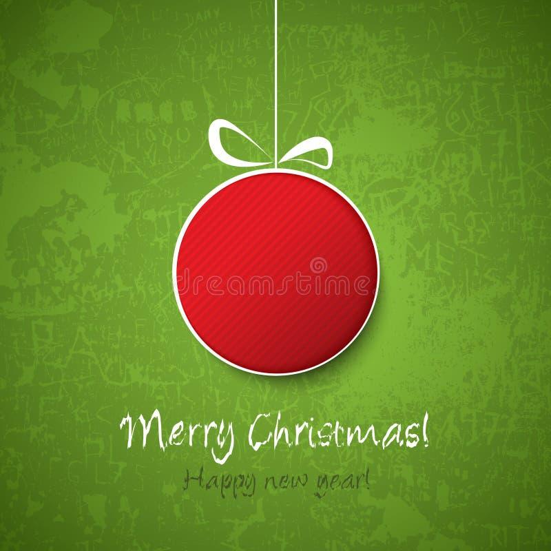 Decoração da esfera do Natal ilustração royalty free