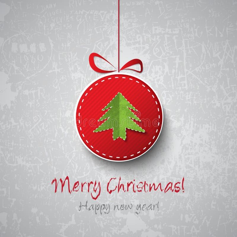 Decoração da esfera do Natal ilustração stock