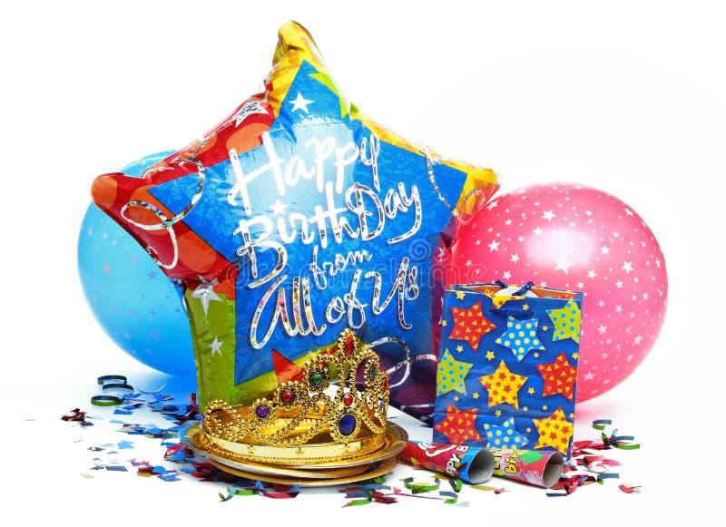 Decoração da festa de anos imagem de stock royalty free