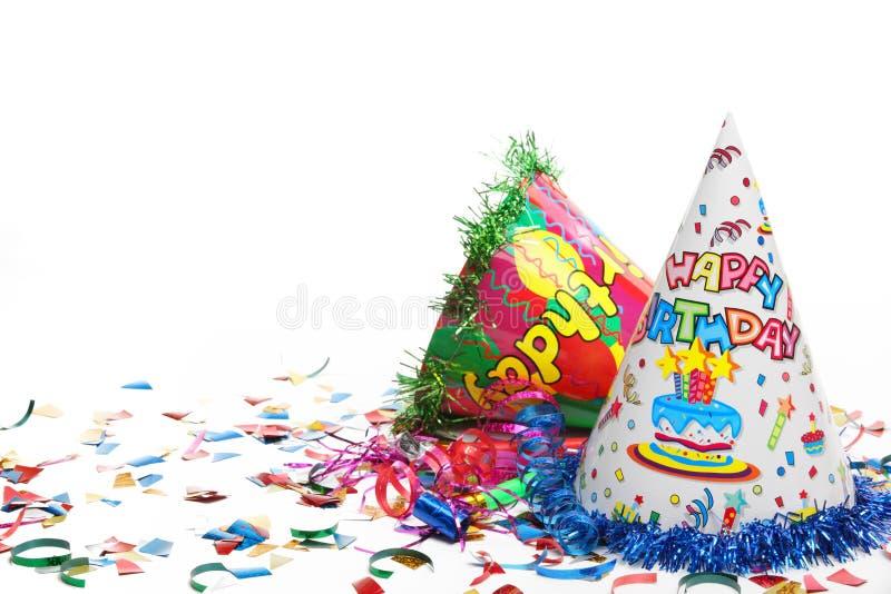 Decoração da festa de anos imagens de stock