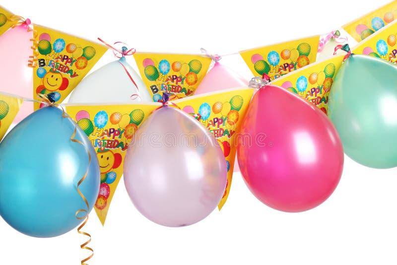 Decoração da festa de anos imagens de stock royalty free