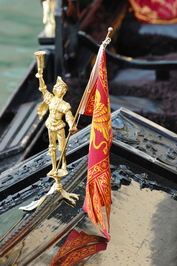 Decoração da gôndola, Veneza, Italy fotos de stock