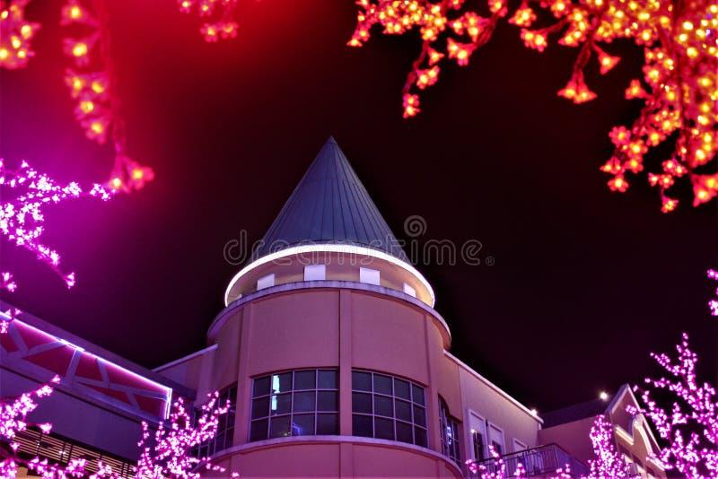 Decoração da iluminação de Chirstmas na curva Malásia imagens de stock royalty free