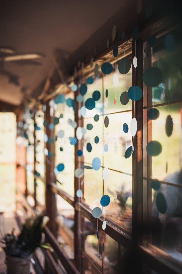 Decoração da janela fotos de stock