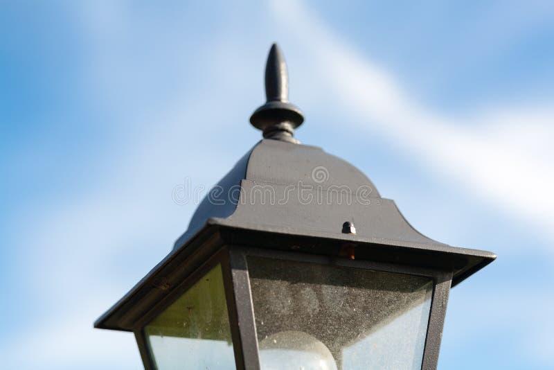 Decoração da lâmpada do jardim isolada fotos de stock royalty free
