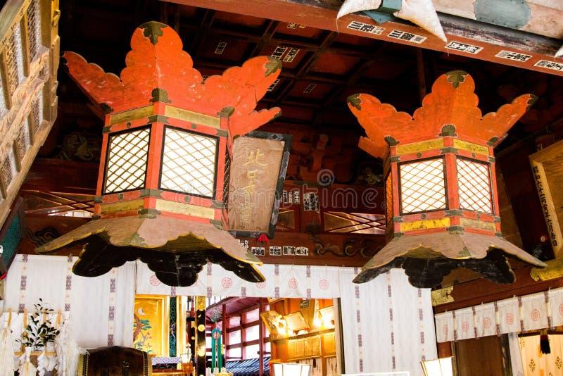 Decoração da lâmpada do templo imagem de stock