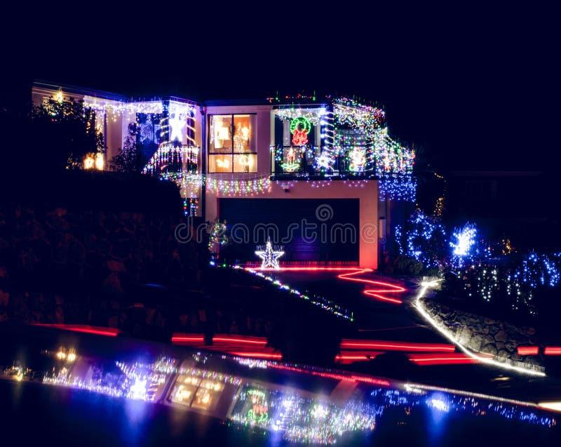 Decoração da luz de Natal imagem de stock