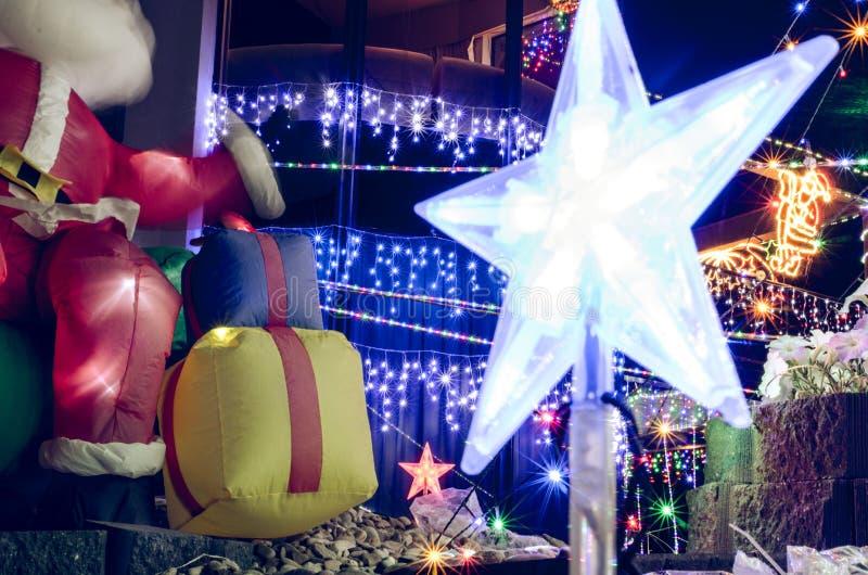 Decoração da luz de Natal fotos de stock