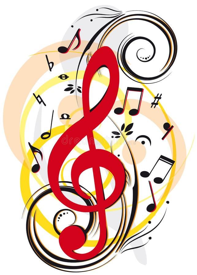 Download Decoração da música ilustração do vetor. Ilustração de ponto - 12803556