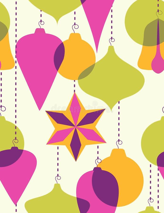 decoração da Natal-árvore - teste padrão sem emenda ilustração stock