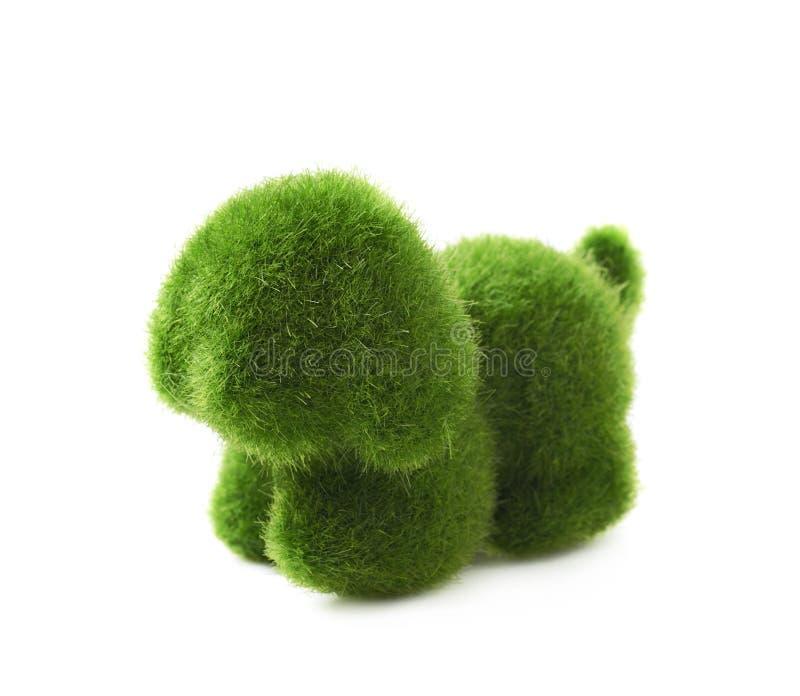 Decoração da Páscoa do brinquedo do cachorrinho isolada foto de stock royalty free