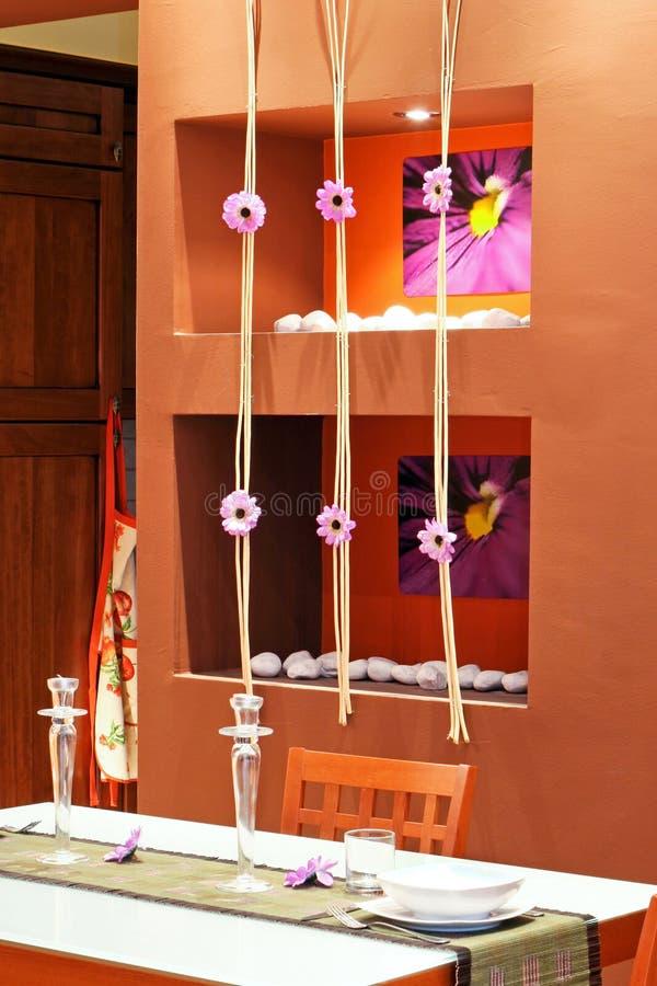 Decoração da sala de jantar imagem de stock royalty free