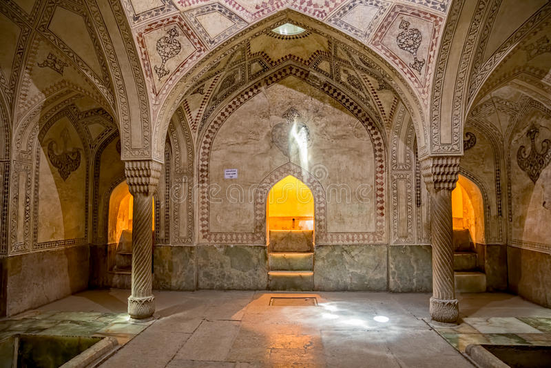Decoração da sala de Shiraz Citadel fotografia de stock royalty free