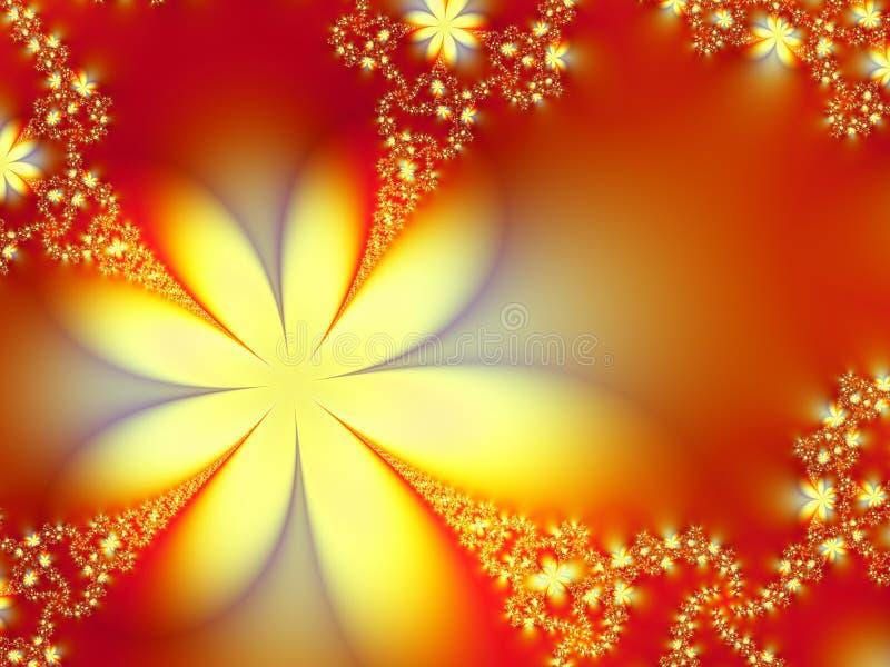 Decoração das flores ilustração do vetor