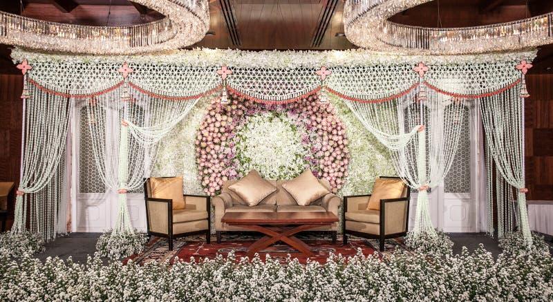 Decoração das flores na fase fotografia de stock royalty free