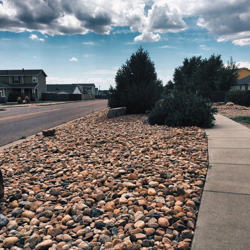 Decoração das rochas, natureza em Colorado Springs foto de stock royalty free