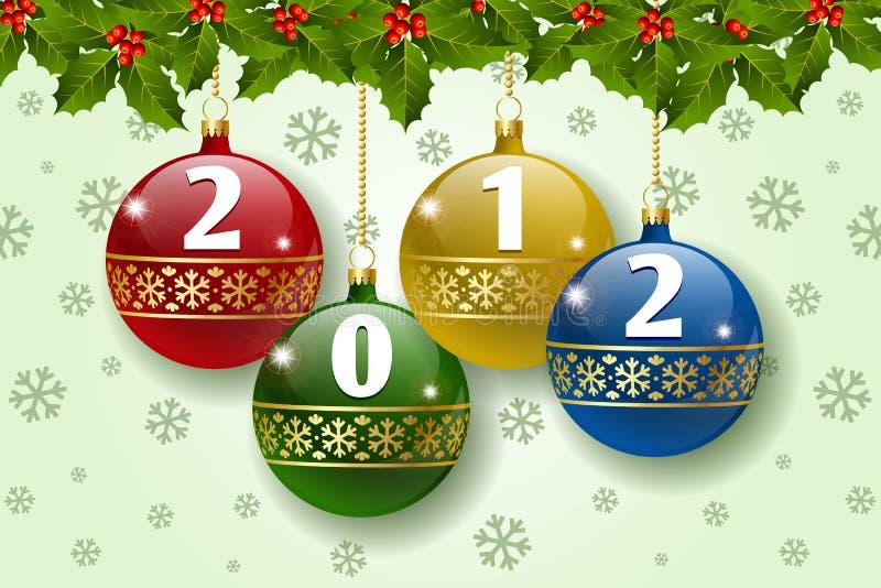 decoração de 2012 esferas ilustração stock
