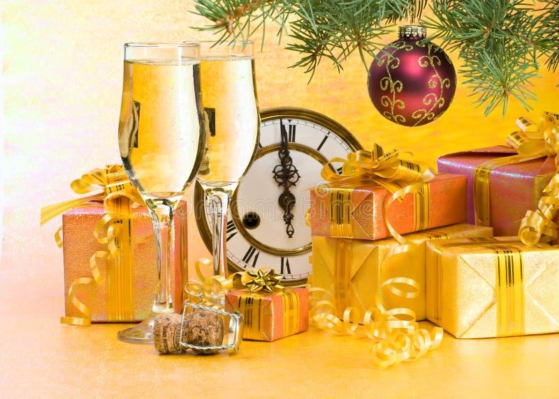 Decoração de ano novo e de Natal fotos de stock