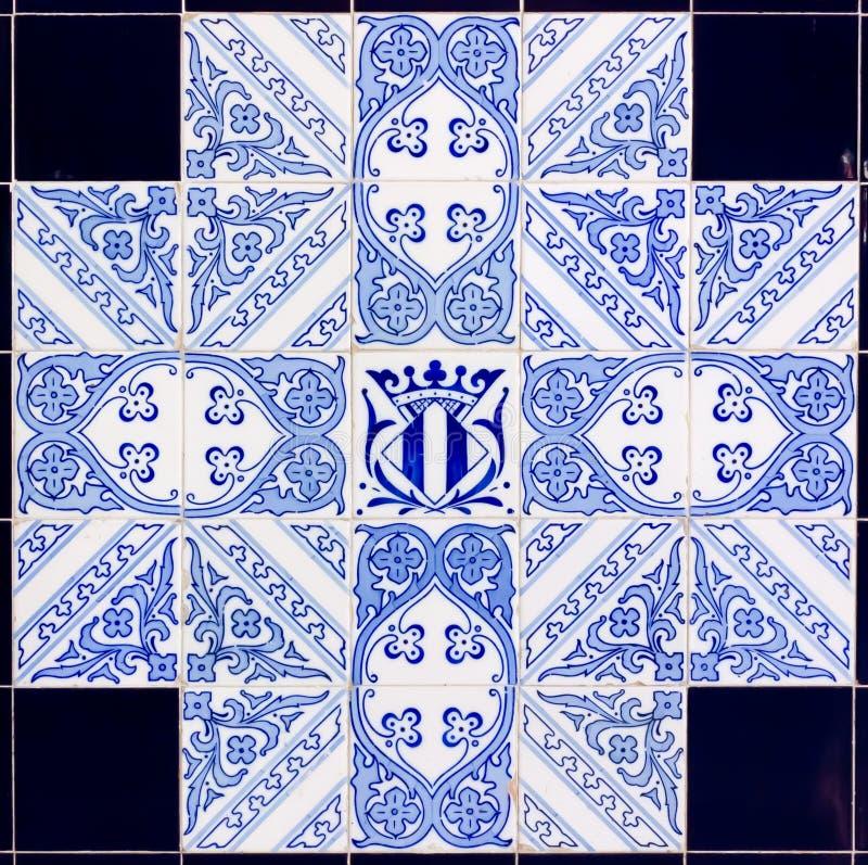 Decoração de Azulejos foto de stock