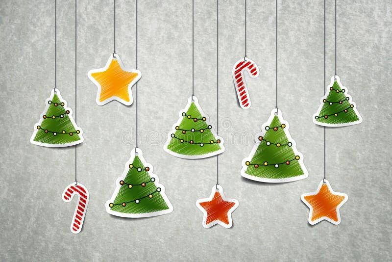 Decoração de Christmass ilustração royalty free