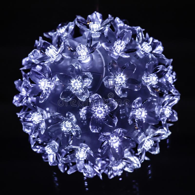 Decoração de cristal brilhante da árvore de Natal imagem de stock royalty free