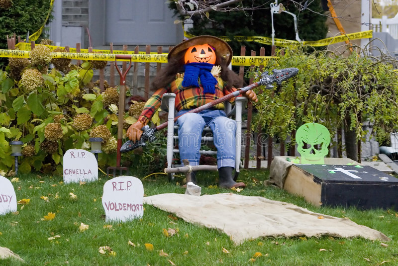 Decoração de Halloween fotos de stock