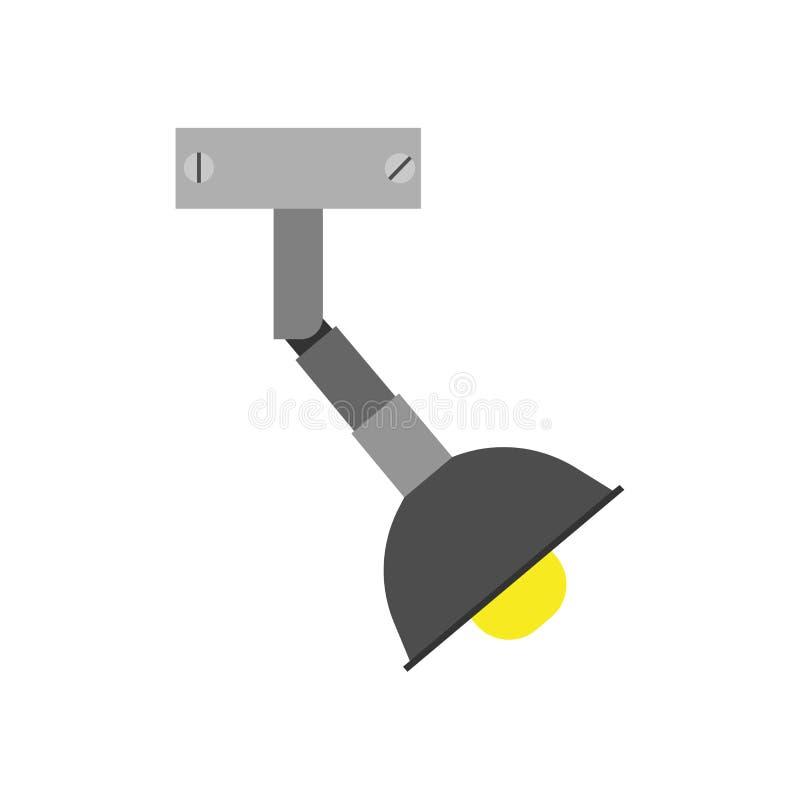Decoração de incandescência da cena do ícone do vetor do projetor horizontalmente Efeito do concerto do estúdio da luz da fase Pr ilustração royalty free