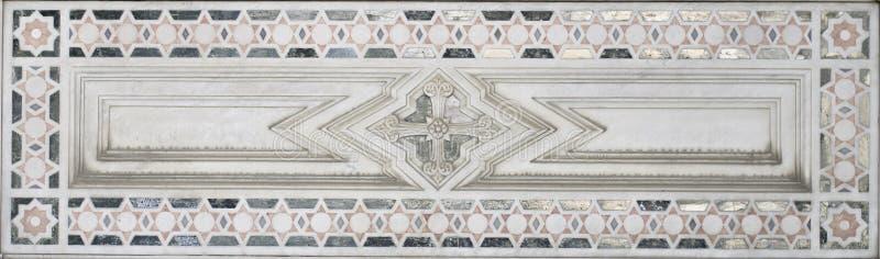Decoração de mármore (teste padrão abstrato do elemento da estrela) imagens de stock royalty free