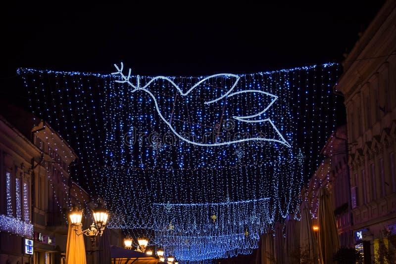 decoração de Natal no centro da cidade, Novi Sad, Sérvia foto de stock