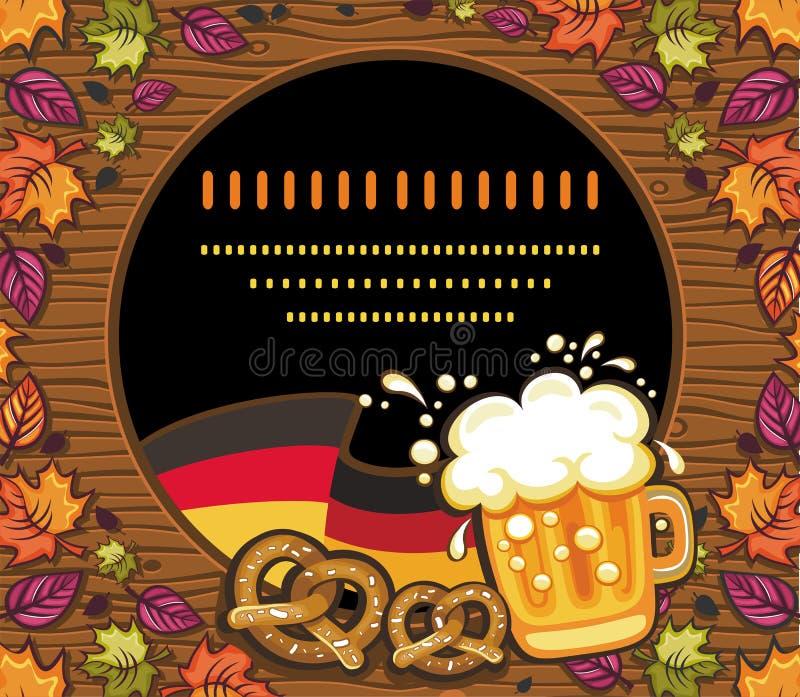 Decoração de Oktoberfest ilustração stock