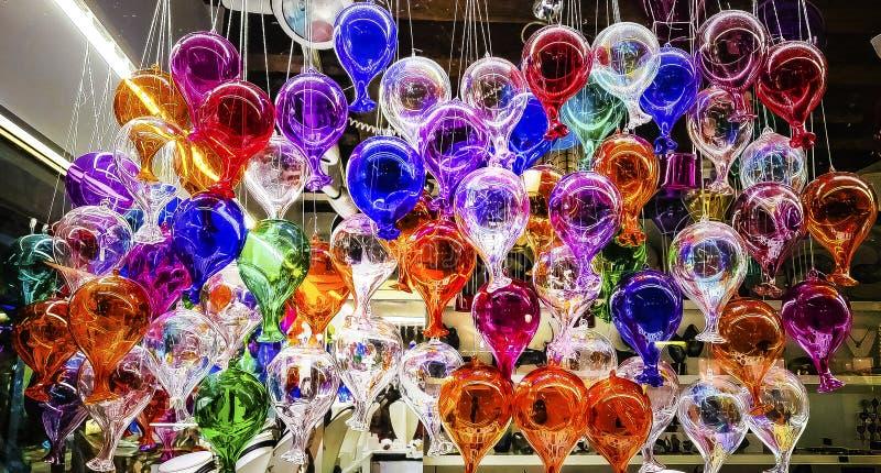 Decoração de vidro da multi cor para interiores com reflexão clara imagem de stock royalty free