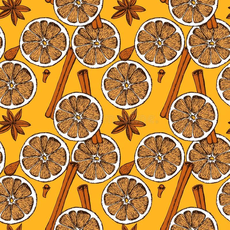 Decoração do alimento do Natal do esboço ilustração do vetor