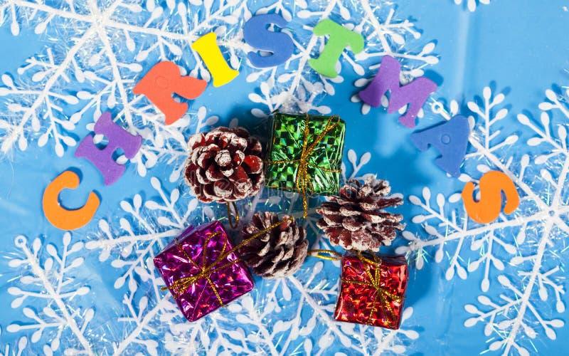 Decoração do ano novo do Natal imagens de stock royalty free