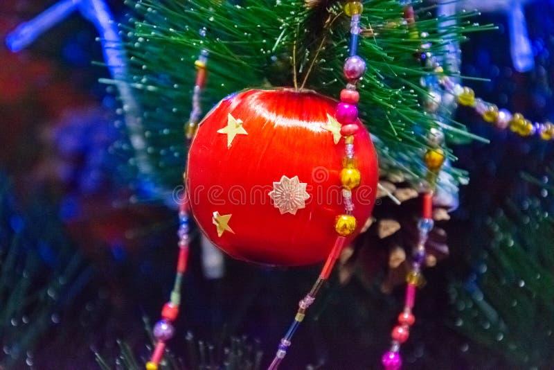 Decoração do ano novo e do Natal fotos de stock