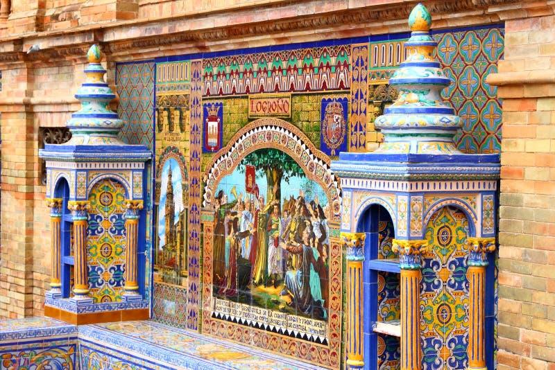 Decoração do azulejo de Logrono imagem de stock