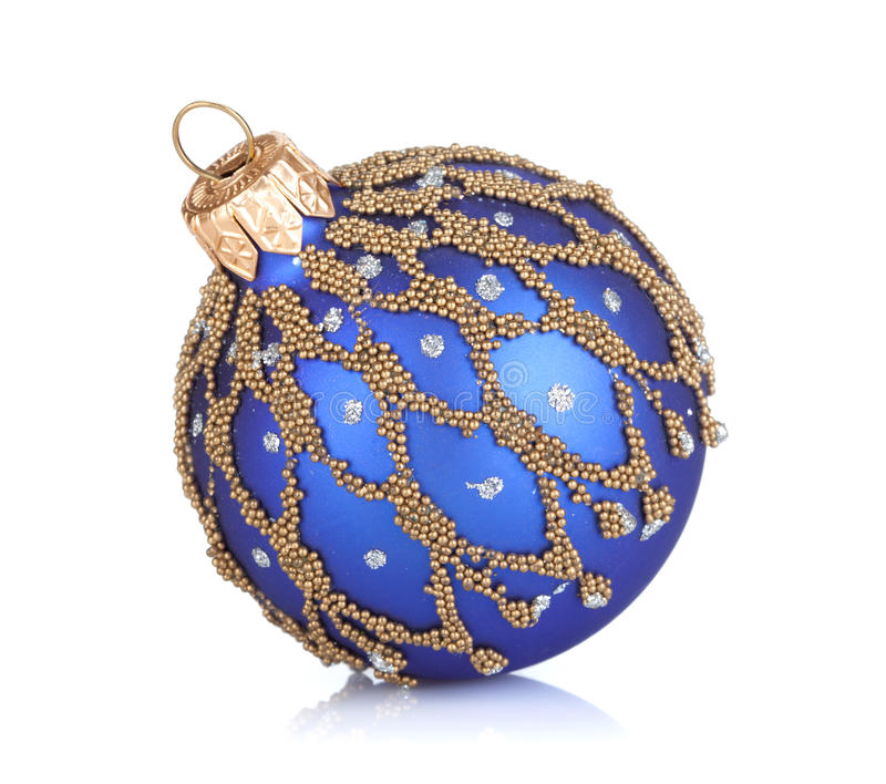 Decoração do bauble do Natal foto de stock royalty free
