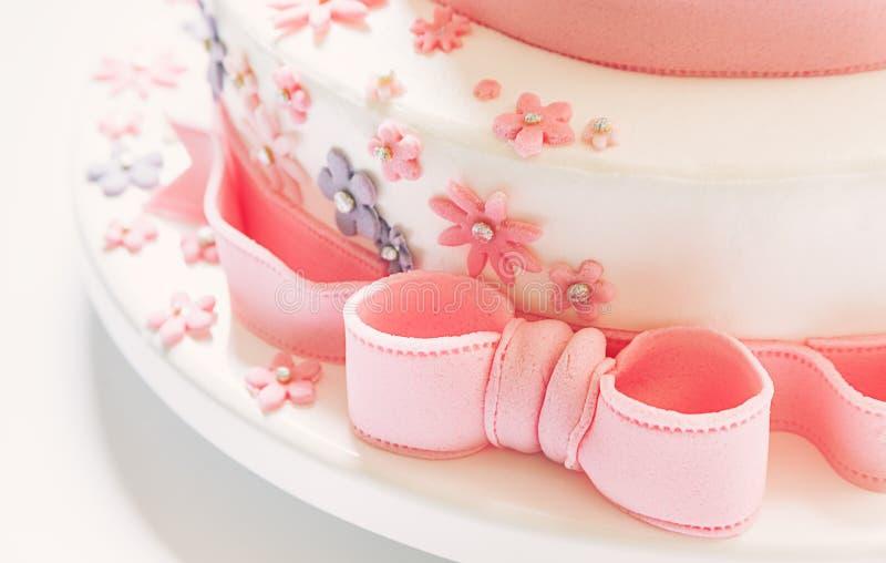 Decoração do bolo de aniversário foto de stock