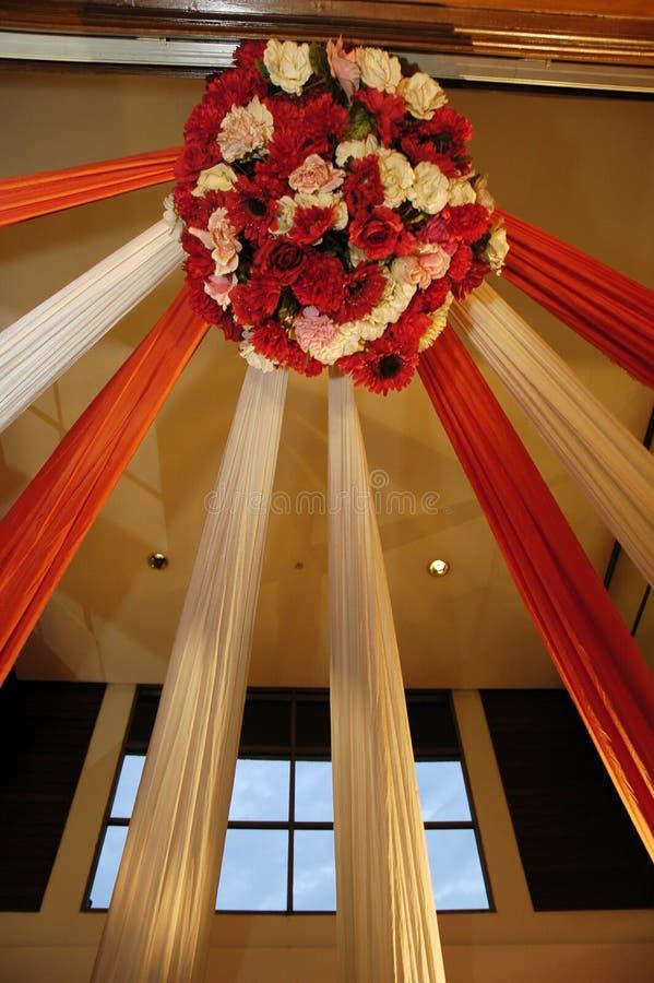 Decoração do casamento da cortina fotografia de stock royalty free